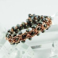 Blue, Gunmetal and Copper Ring View 2 by sylva