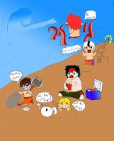 cold spaghetti beach party by lockheart9