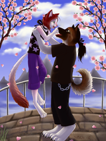 Under the Cherry Trees by JeMiChi