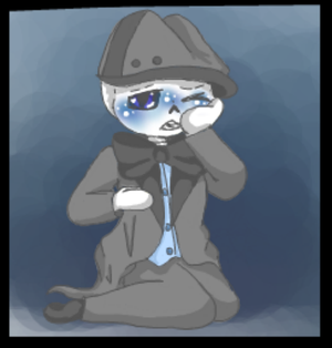 Tiny cry baby skele by DarkPastries