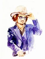 tiny watercolor Johnny by amoykid