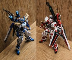 Gundam Astray Blue and Red Frame by shinta-illustration