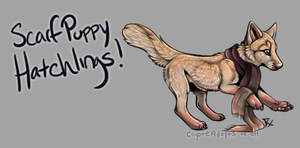 Scarf Puppy Hatchlings! [Egg #4] by CoyoteAdopts