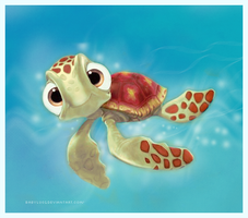 finding nemo: squirt by babylu01