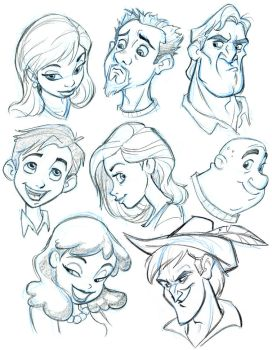 More Character heads by tombancroft
