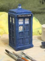 The TARDIS  from Doctor Who. by Edarneor