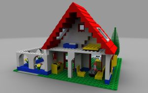 LEGO Holiday Home - Rear view by zpaolo