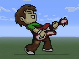 Scott Pilgrim Minecraft Pixle art by SearingComic851