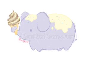 Ice Cream Elephant by Bon-Bon-Bunny