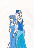 Belles in Blue by 13foxywolf666