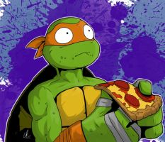 TMNT - No More Pizza by LRitchieART