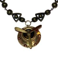 Steampunk Necklace - Propeller by CatherinetteRings