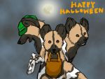 african wild dog, halloween by wulfluva