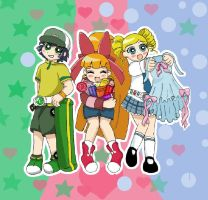 Powerpuff Girls Z by serena-inverse