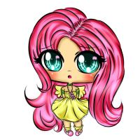 Fluttershy Chibi human by EndlessBlueSky