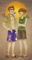 aus and zea by sugargams