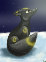 Umbreon real style by Leafeony