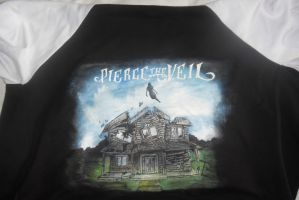 Pierce The Veil- hand painted varsity jacket by TsubakiUkitake