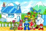 Mega Man - Like Family by kamon-san