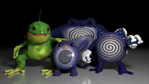Blender 3d Models: Poliwag Evolutions