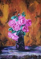 Roses (oil painting) by AlexandraDart