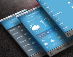 Mobile weather application by isorun