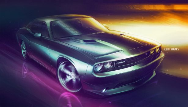 Dodge Challenger by roobi