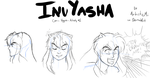 Comic Veggies: Faces: InuYasha by ArtisticMii