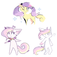 Some Doodles + new style variant + OMG by Milkii-Ways