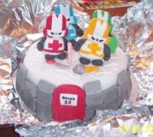 Castle Crashers Cake by SugarTreece123