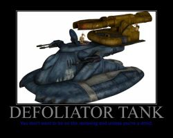 Star Wars The Clone Wars Defoliator Tank by Onikage108
