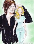 Daryl and Beth The walking dead SE5 by zelldinchit