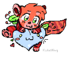 Tryout pixel art (Red Panda) by Kydashing