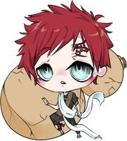 Baby Gaara by pawnawn