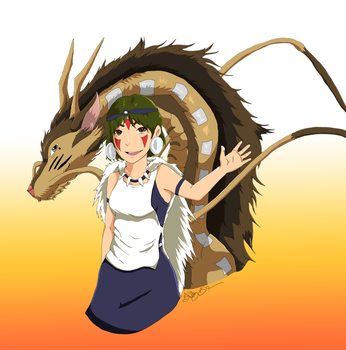 Chihiro and Haku Halloween Contest by Shebby2007