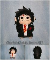 Harry Potter Chibi plushie by ChloeRockChick14