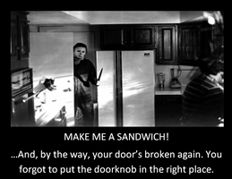 Michael Myers wants a sandwich :3 by iheartslashers