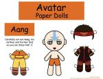 Aang Paper Doll by Malindachan
