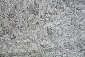 City Drawing # 3 by Fighterfungus