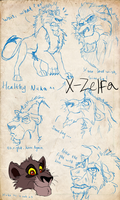Nuka_sketches by X-Zelfa