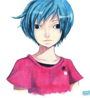 Blue Haired Kid by Noxmoony