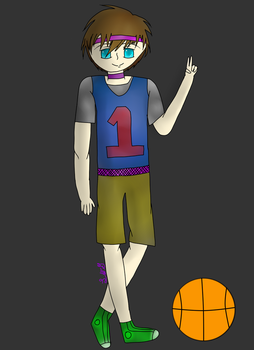 Basketball Guy (I don't know) by LunaWolfGrey