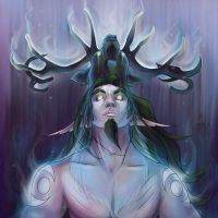 Druid of the Antler by Hazelgee