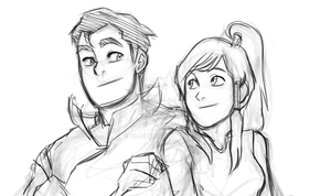 Bolin and Korra by cracket