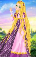 Rapunzel deluxe gown by LadyAmber