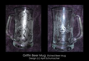 Griffin Beer Mug by pallanoph