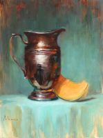 Vase and Melon (Study) by AndresAlexanderP