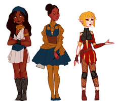 dragon age ladies by snownymphs