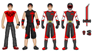 PRMB Red Ranger Paint by werewolfwannabe1224