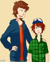 Dipper and son request by lewy-ko